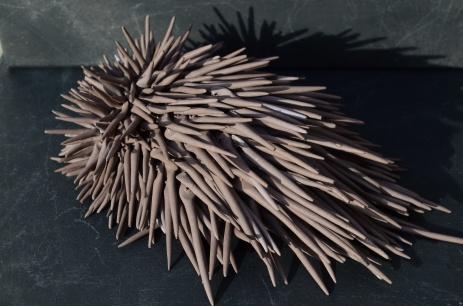 Da série Tactilis Sem titulo Cerâmica sobre superfície macia 20x10x7 2013